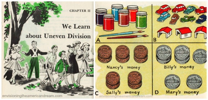 Vintage school book illustration Arithmetic