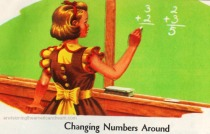 Vintage Schoolbook Illustration Arithmetic