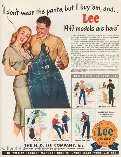 sexist ad Lees Jeans woman and man illustration