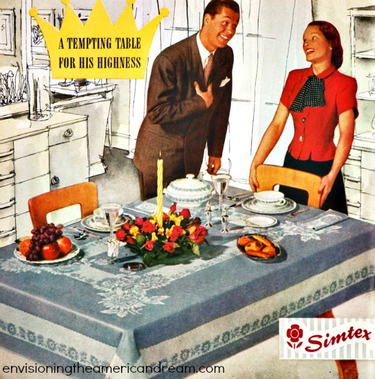sexist ad husband wife at table