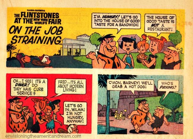 Vintage comic book Flinstones Worlds Fair 1964