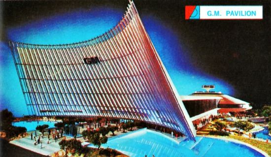 eneral Motors Pavilion NY Worlds Fair 1964 postcard