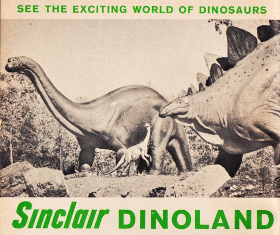 Sinclair Dinoland Ad NY Worlds fair 1964