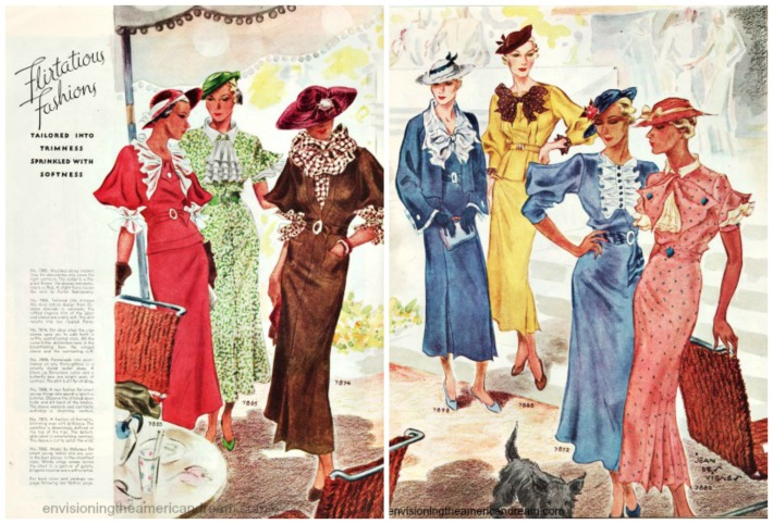 1930s womens  fashion illustration