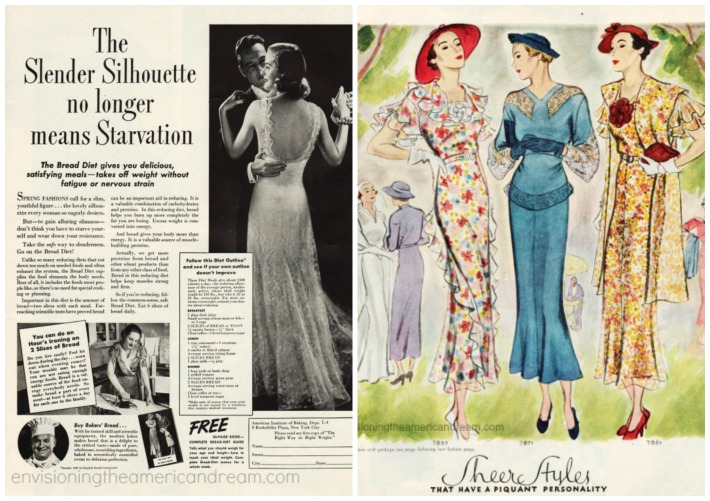 vintage Diet  ad   womens fashion 1930s