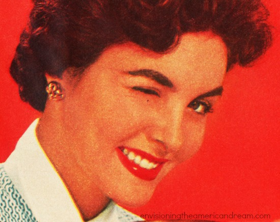 housewife winking 1950s