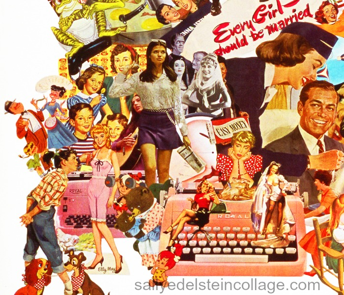 collage by  sally edelstein art appropriated vintage  images 1950s