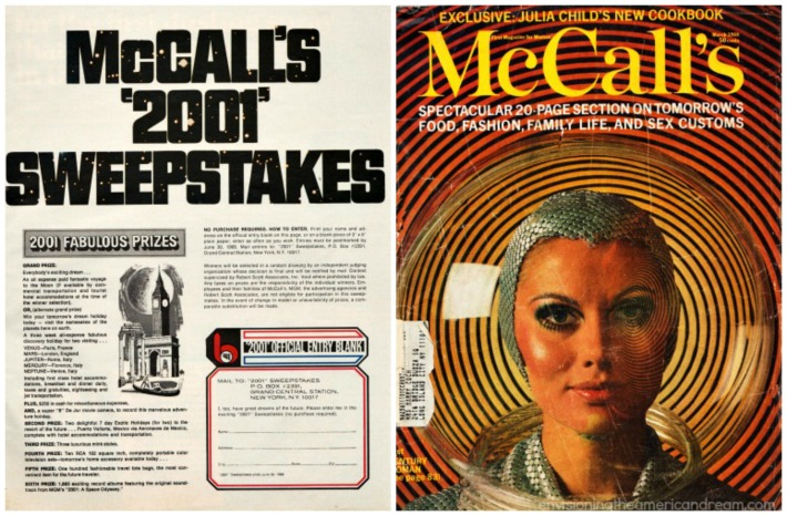 Space 2001 McCalls Sweepstakes