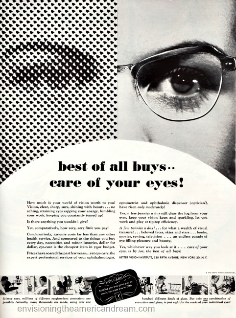 vintage ad Better Vision Institute 1951