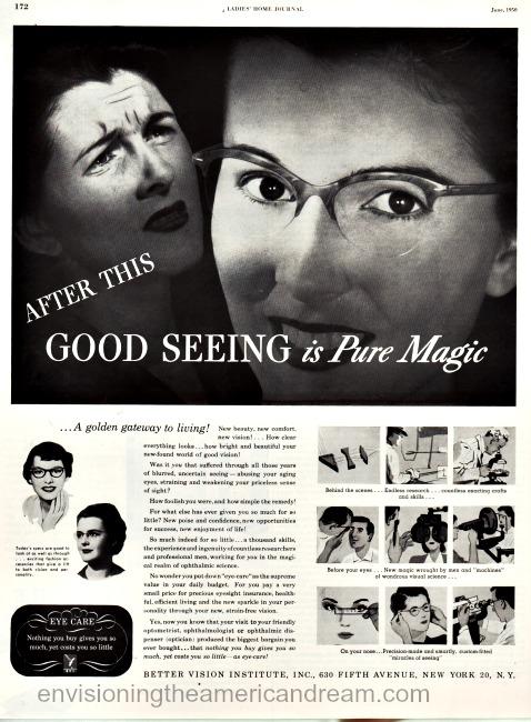 Better Vision Institute ad 1950