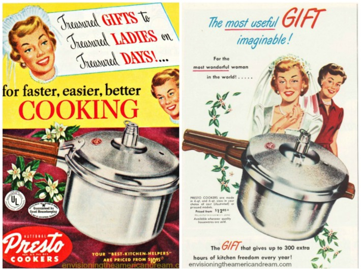 vintage ads gifts for Brides presto cookers