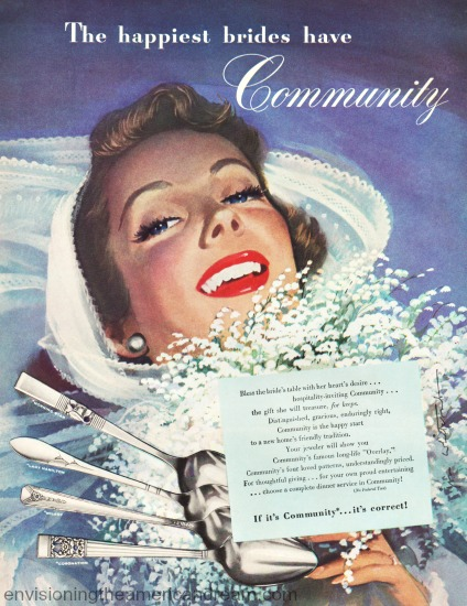 vintage illustration ad bride Jon Whitcomb