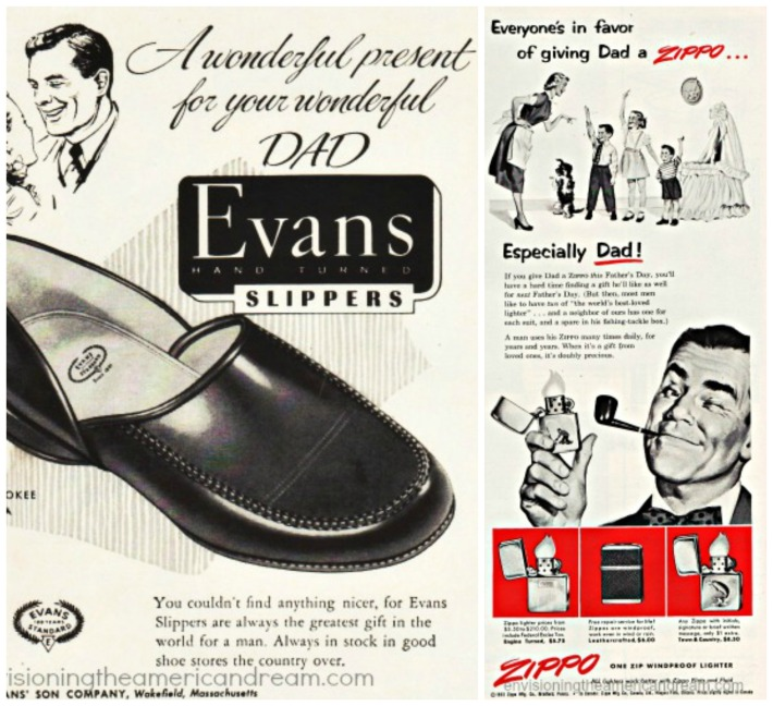 fathers Day ads pipe and slippers