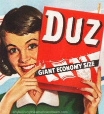 vintage ad Duz Housewife