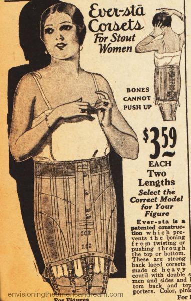 vintage lingerie corset stout women
