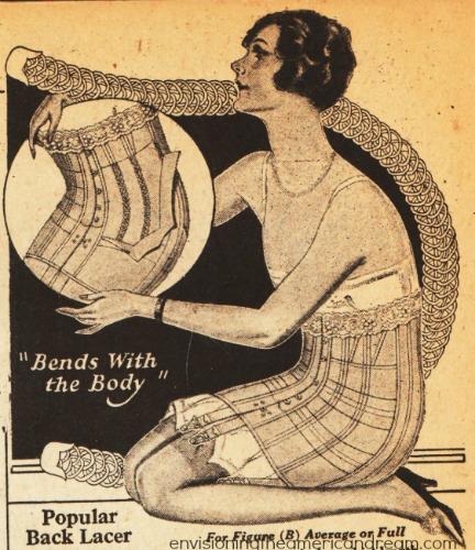 vintage catalog fashion illustration lingerie corsetlette girdle 1920s