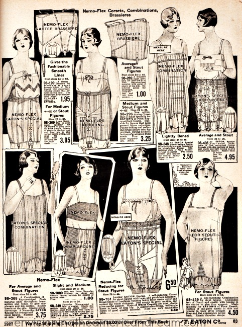 vintage lingerie corsets 1927 fashion illustration