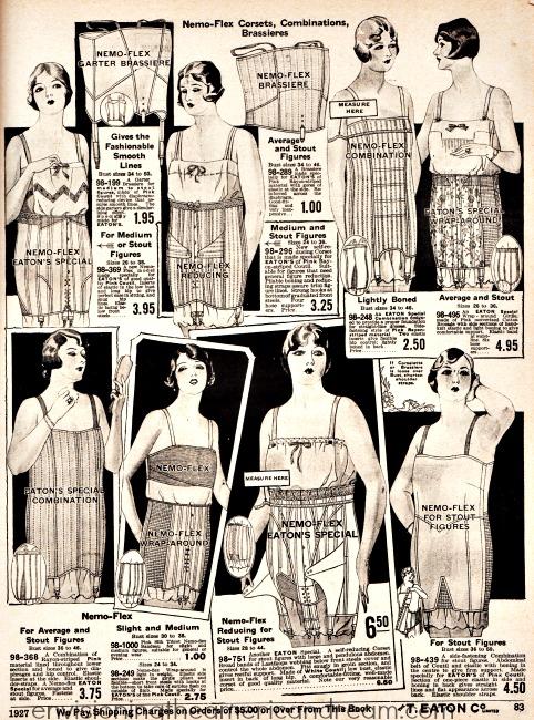 vintage lingerie corsets 1927 fashion illustration