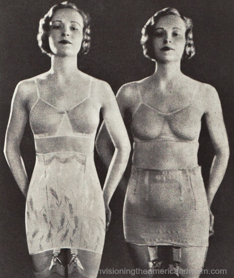 photo woman vintage lingerie corsets 1933