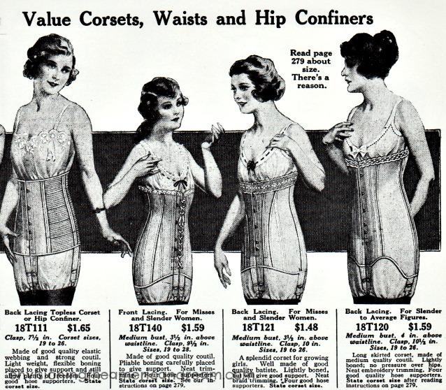 afa201a3cd0 Vintage Corsets 1915 Sears Roebuck Catalog