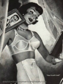 vintage ad illustration woman girdle bra