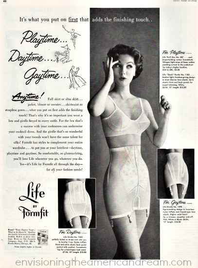 Vintage girdle ad 1954 woman in lingerie