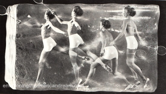 vintage girdle ad women in ice