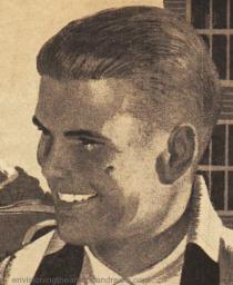 vintage illustration boy in crew cut