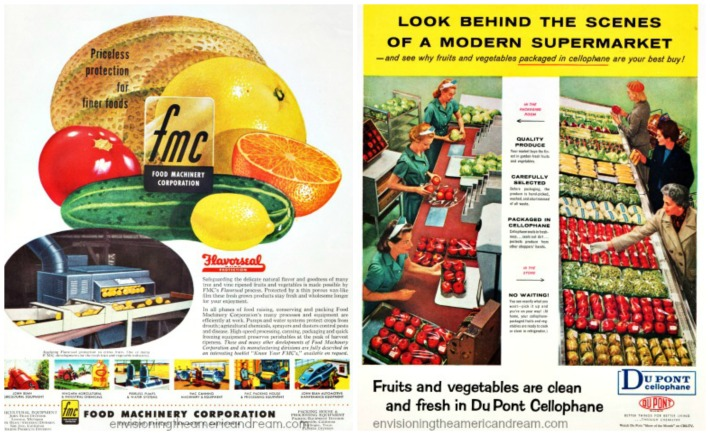 vintage ads food cellophane and coverings