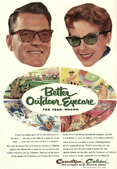 vintage sunglasses ad
