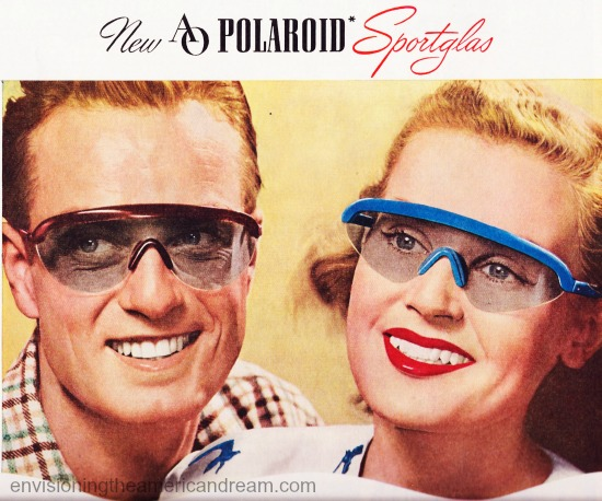 vintage images 1940s man and woman in sunglasses