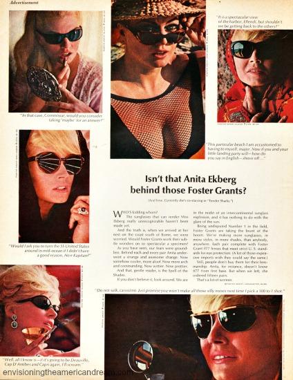 sunglasses Foster Grant Anita Ekberg