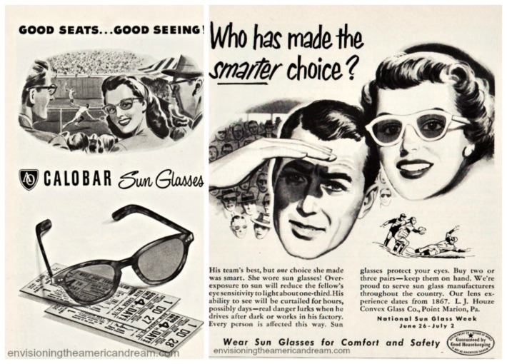 vintage sunglasses ads