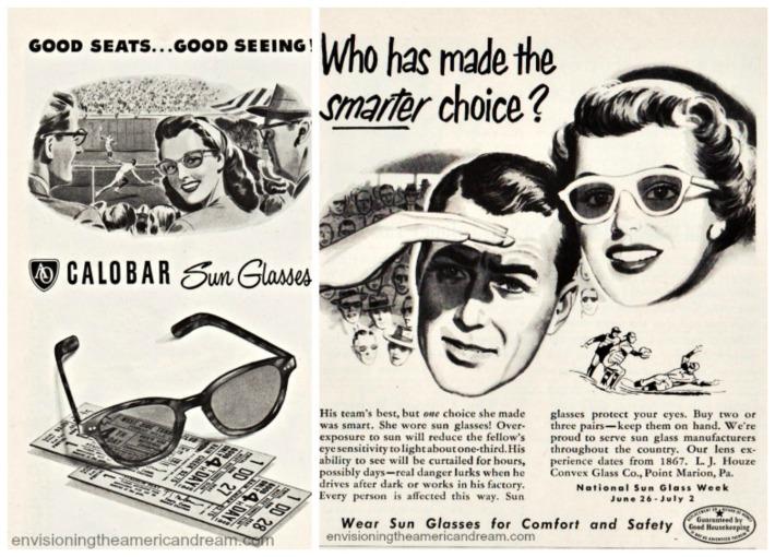 vintage sunglasses ads