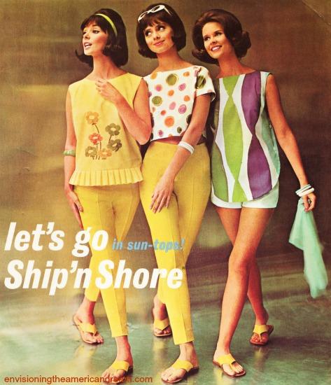 Vintage Womens Fashion ad Ship 'n Shore 1962