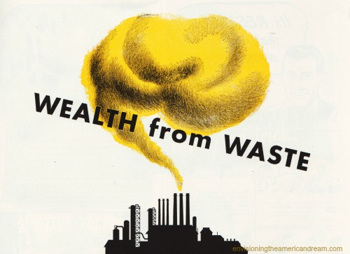 vintage graphic wealth from waste