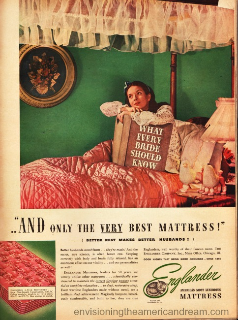 vintage woman in bed reading book