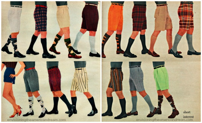 Mens bermuda shorts 1950s