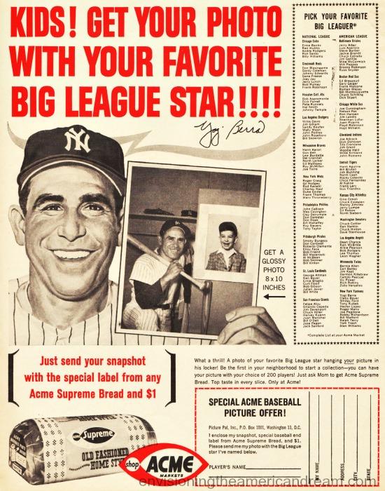 vintage ad Yogi Berra 1963