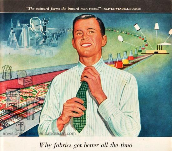 vintage illustration man and chemicals