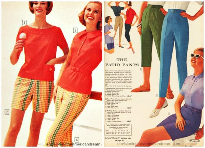 Vintage womens summer fashion catalog ads Sears 1961