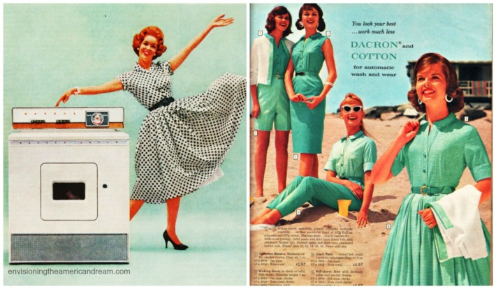 vintage ads washing machne and womens fashion