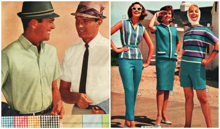 vintage fashions 1960s synthetics men dacron and women