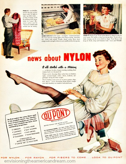 Vintage ad DuPonts Nylon