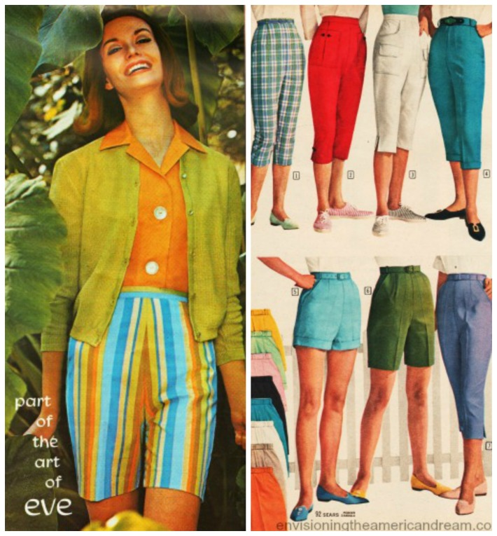 Vintage womens summer fashions 1960s