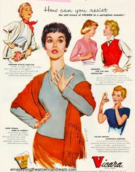 vintage womens fashion Synthetic fabrics