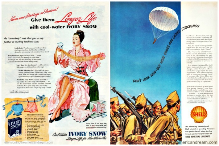 vintage ads WWII Stocking shortages