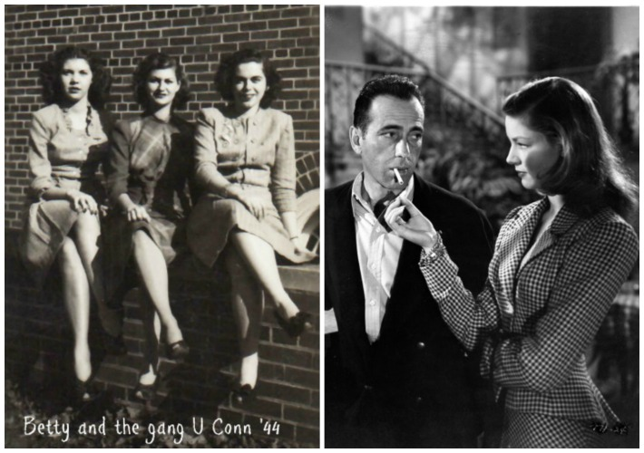 1944 college girls  and Lauren bacall