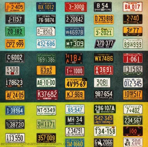 vintage cars license plates