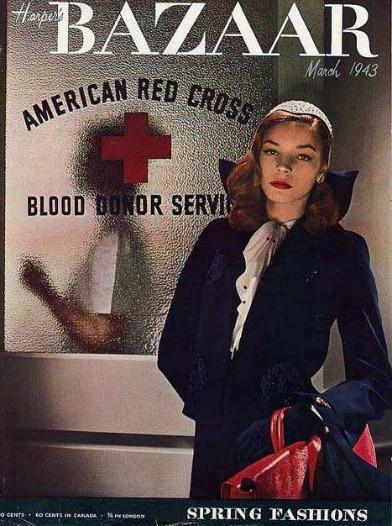 Magazine cover Lauren Bacall Harpers Bazaar 1943